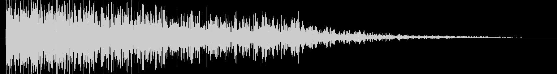 衝撃 ミステリアスファイア01の未再生の波形