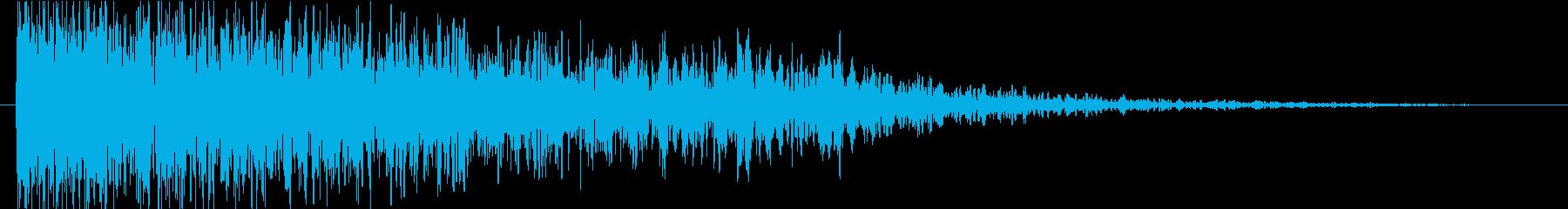 衝撃 ミステリアスファイア01の再生済みの波形
