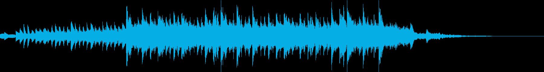 未来的なジングルの再生済みの波形