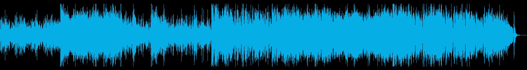 SF感のあるグリッジの効いたシネマBGMの再生済みの波形