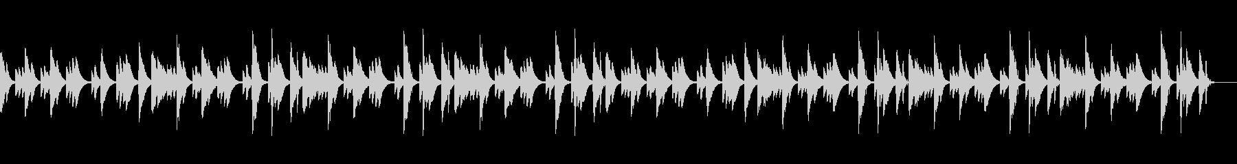 可愛らしい音色のリラクゼーション音楽の未再生の波形