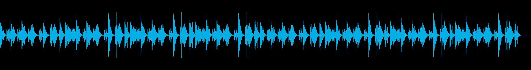 可愛らしい音色のリラクゼーション音楽の再生済みの波形