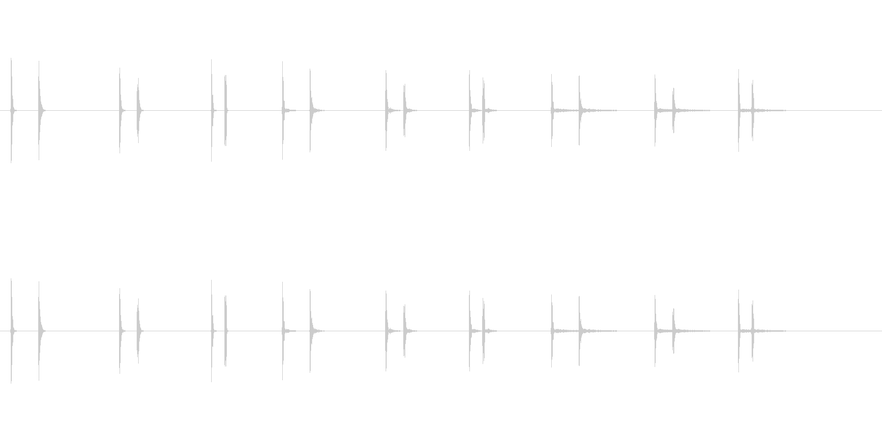 傾斜ボタンの未再生の波形