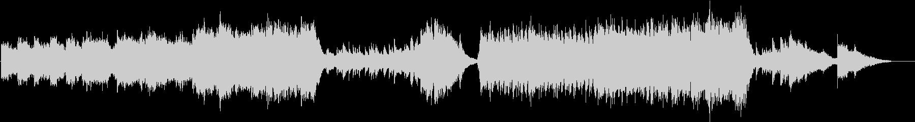 ピアノが印象的なファンタジー音楽の未再生の波形