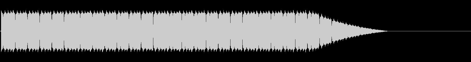 緊急事態に流れるサイレン音の未再生の波形
