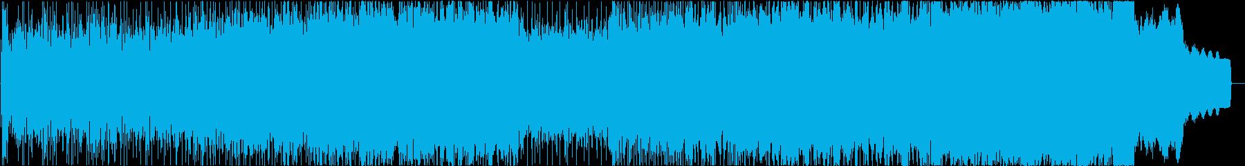 攻撃的なロックサウンドの再生済みの波形
