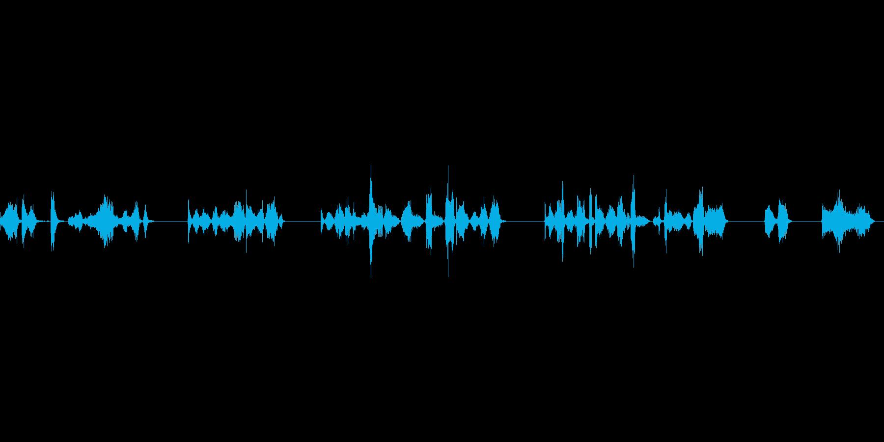 マジックで文字を書いている音の再生済みの波形