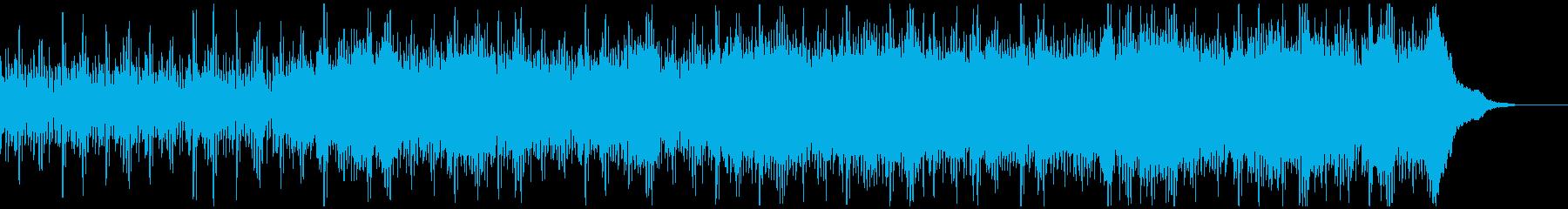 技術や宇宙を想起させるシンセサイザー楽曲の再生済みの波形