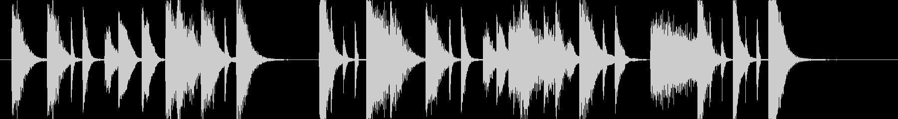 歯切れ良いピアノのジングル 006の未再生の波形