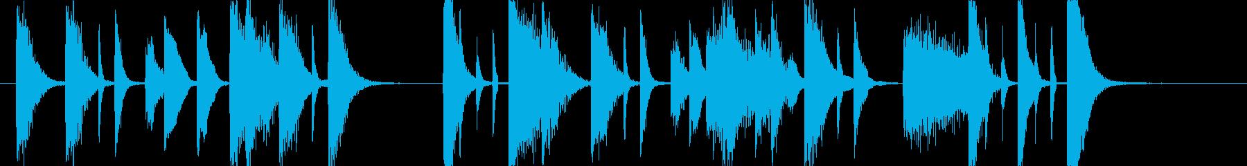 歯切れ良いピアノのジングル 006の再生済みの波形