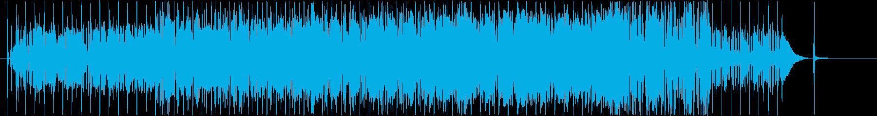 明る暗いエネルギッシュなサウンドの再生済みの波形