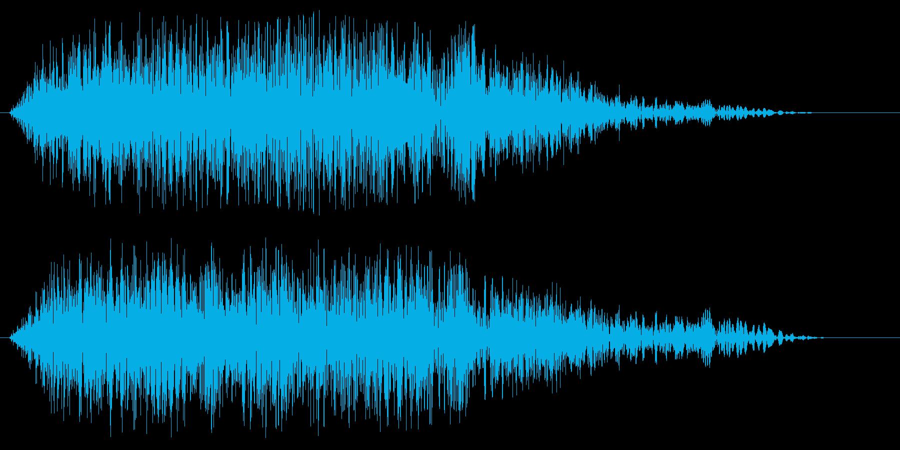 ニュースのオープニングの効果音(速い)の再生済みの波形
