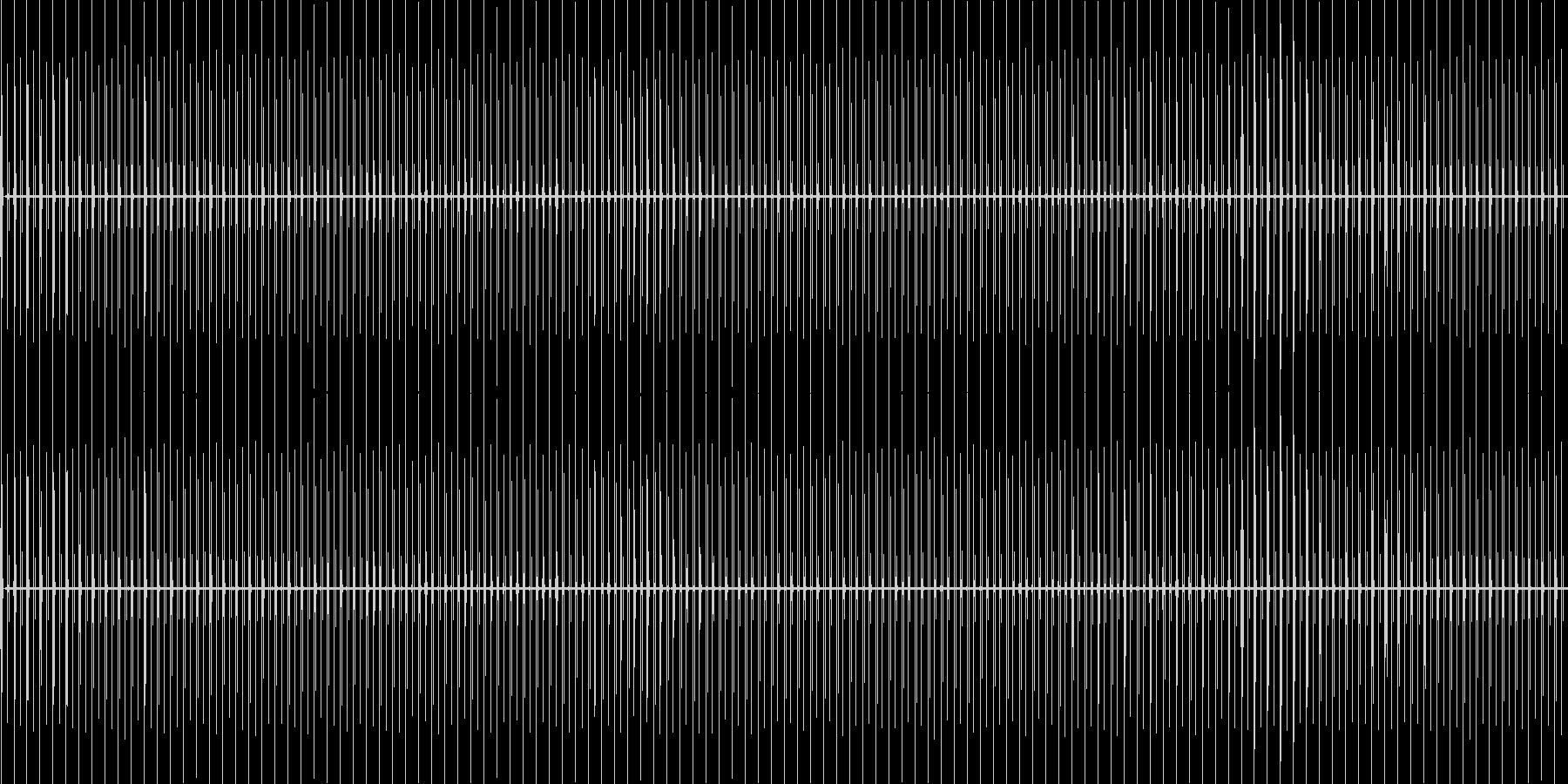 チッチッチッ……(時計・秒針60sec)の未再生の波形