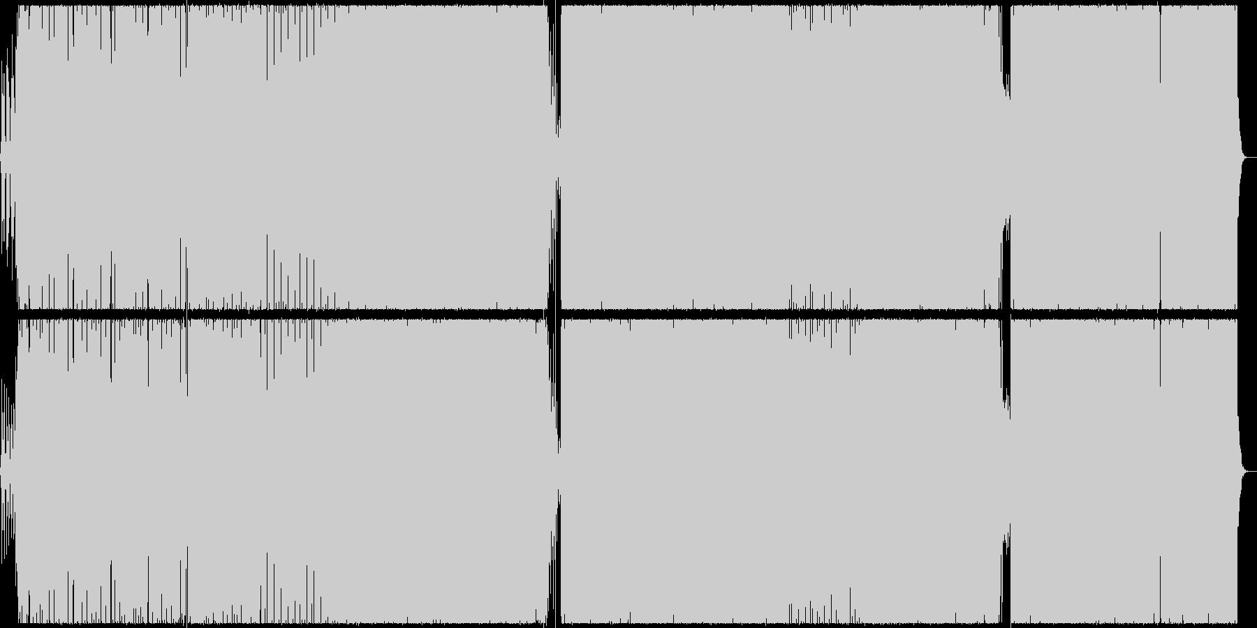 【BGM】ベースが印象的なテクノ曲の未再生の波形