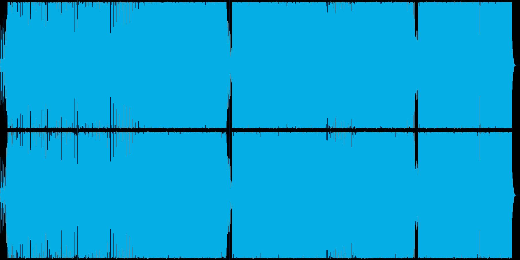 【BGM】ベースが印象的なテクノ曲の再生済みの波形