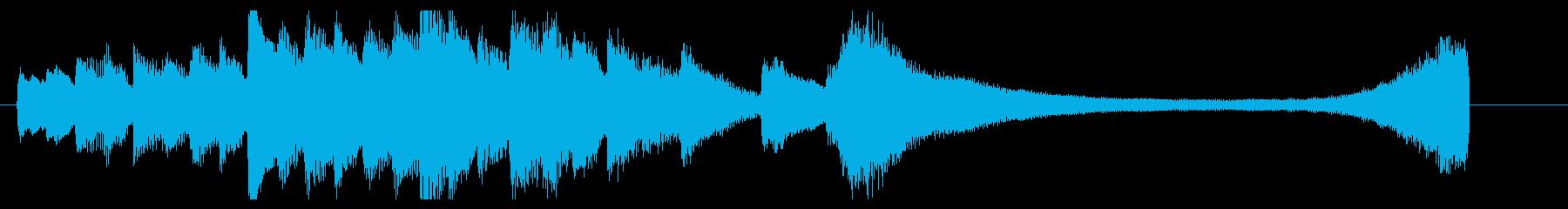 爽やかなピアノソロジングルの再生済みの波形