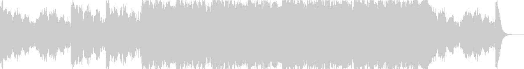 オープニング音楽に適したBGMの未再生の波形