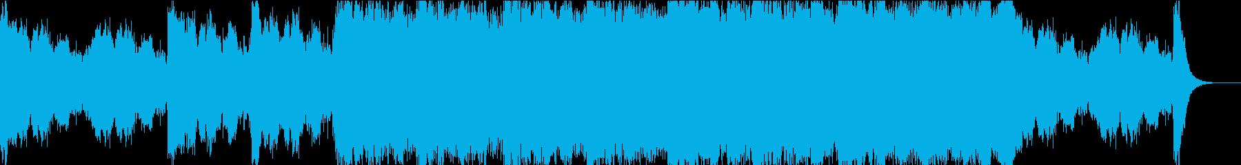 オープニング音楽に適したBGMの再生済みの波形