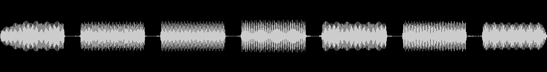 電話タッチトーンダイヤルの高速化の未再生の波形