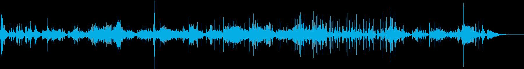 中国風の楽器による軽快な曲の再生済みの波形