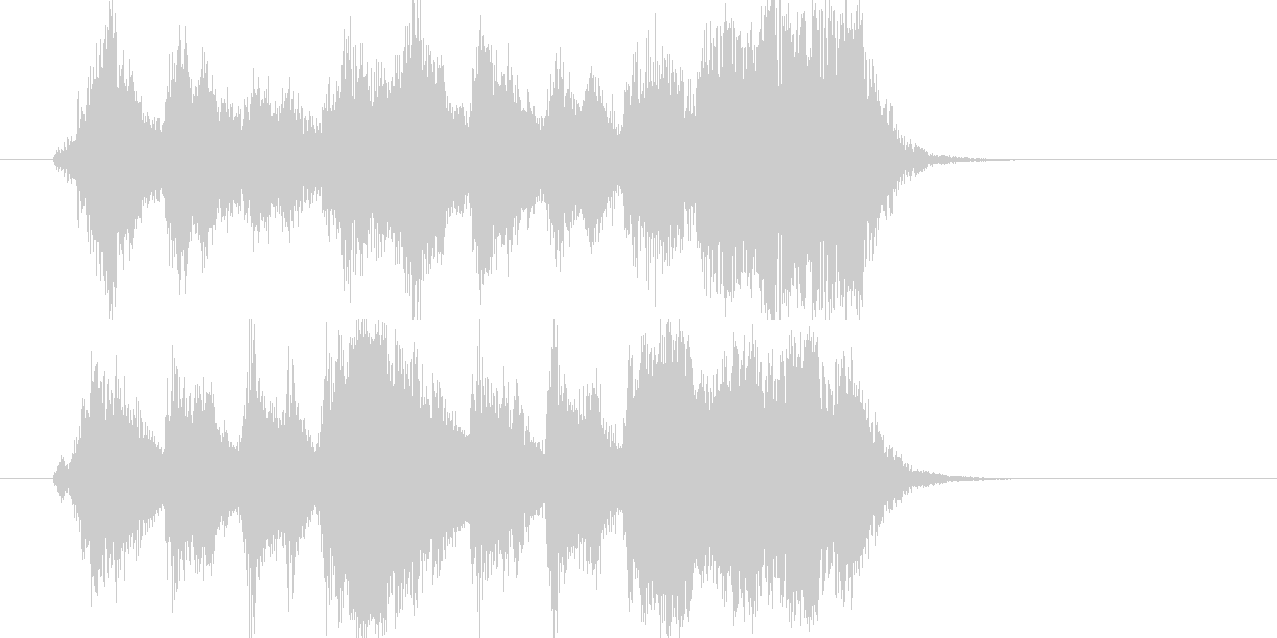 希望の空へ羽ばたくオーケストラジングルの未再生の波形