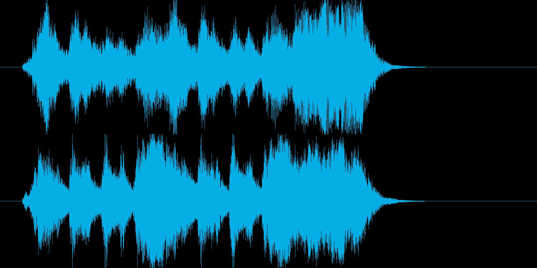 希望の空へ羽ばたくオーケストラジングルの再生済みの波形