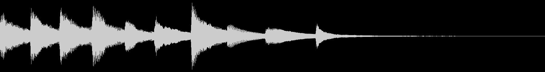 きれいなピアノのジングル28の未再生の波形