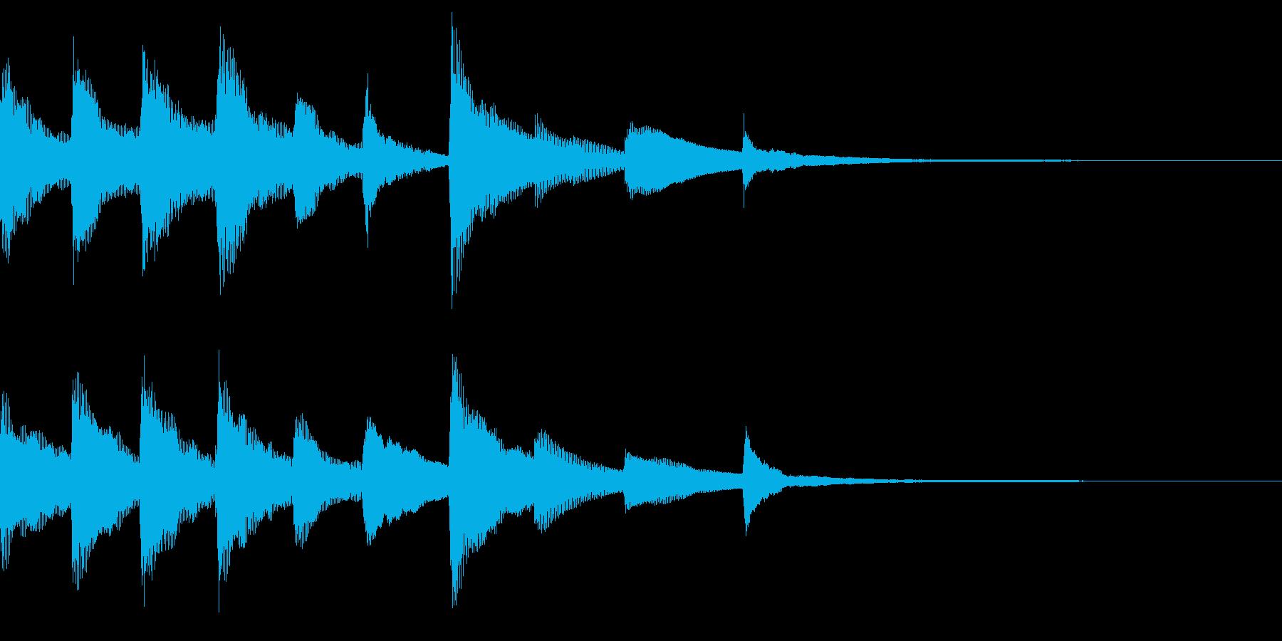 きれいなピアノのジングル28の再生済みの波形