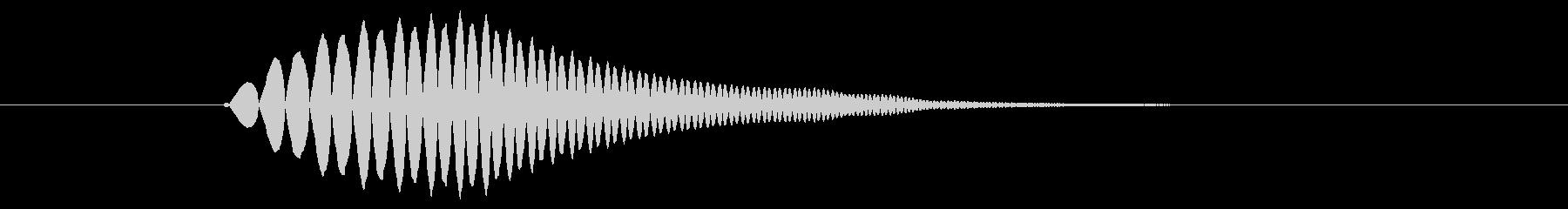 モワン(吹き出し・想像・テロップなど)の未再生の波形