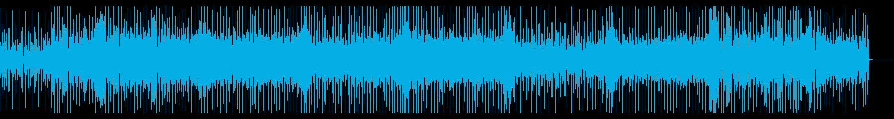 明るく軽快なリズムのポップスの再生済みの波形