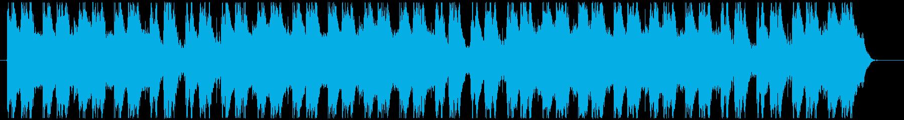 緊迫したファンタジー系ストリングスの再生済みの波形