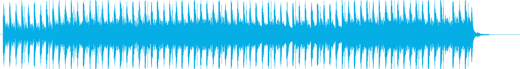 デジタル感溢れるパレード風BGMの再生済みの波形