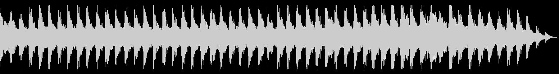 迫りくるガーンガーンという金属音の未再生の波形