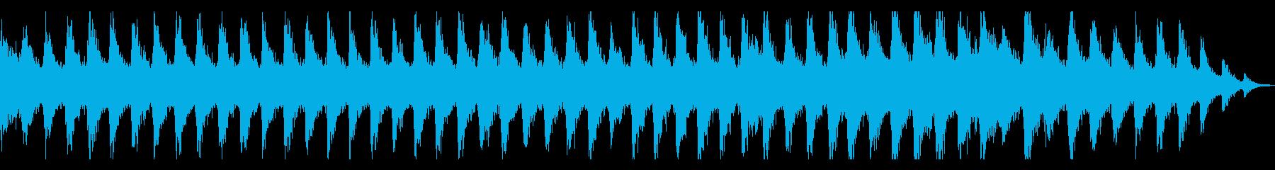 迫りくるガーンガーンという金属音の再生済みの波形