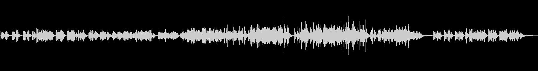 150秒の、元気になれるピアノ曲の未再生の波形