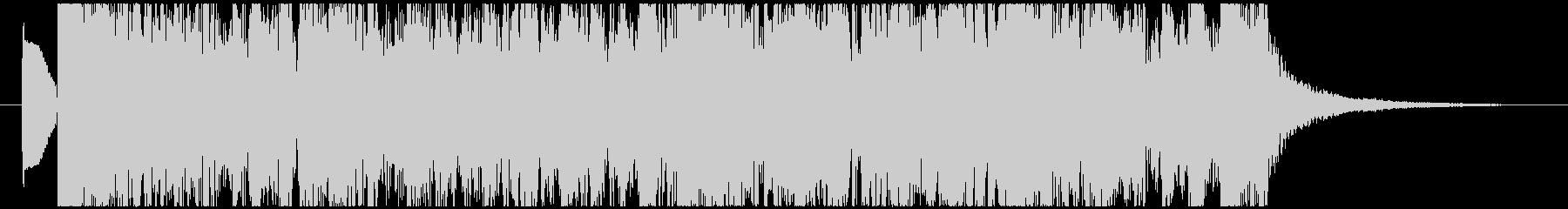 ファンキーなギターリフの勢いあるロック曲の未再生の波形