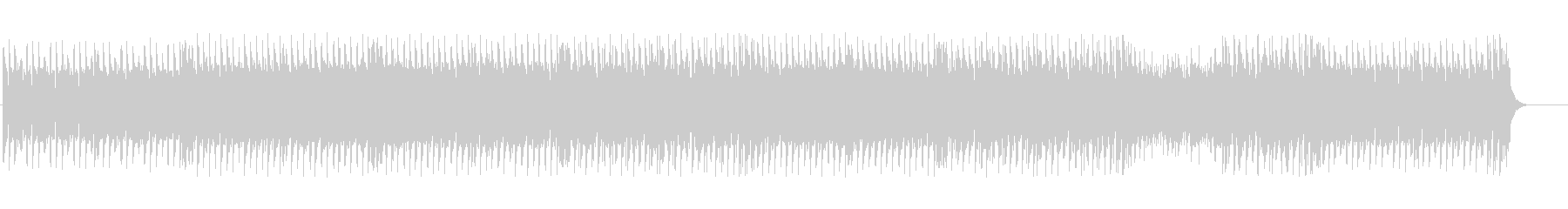 Fantastic and cute techno BGM's unreproduced waveform