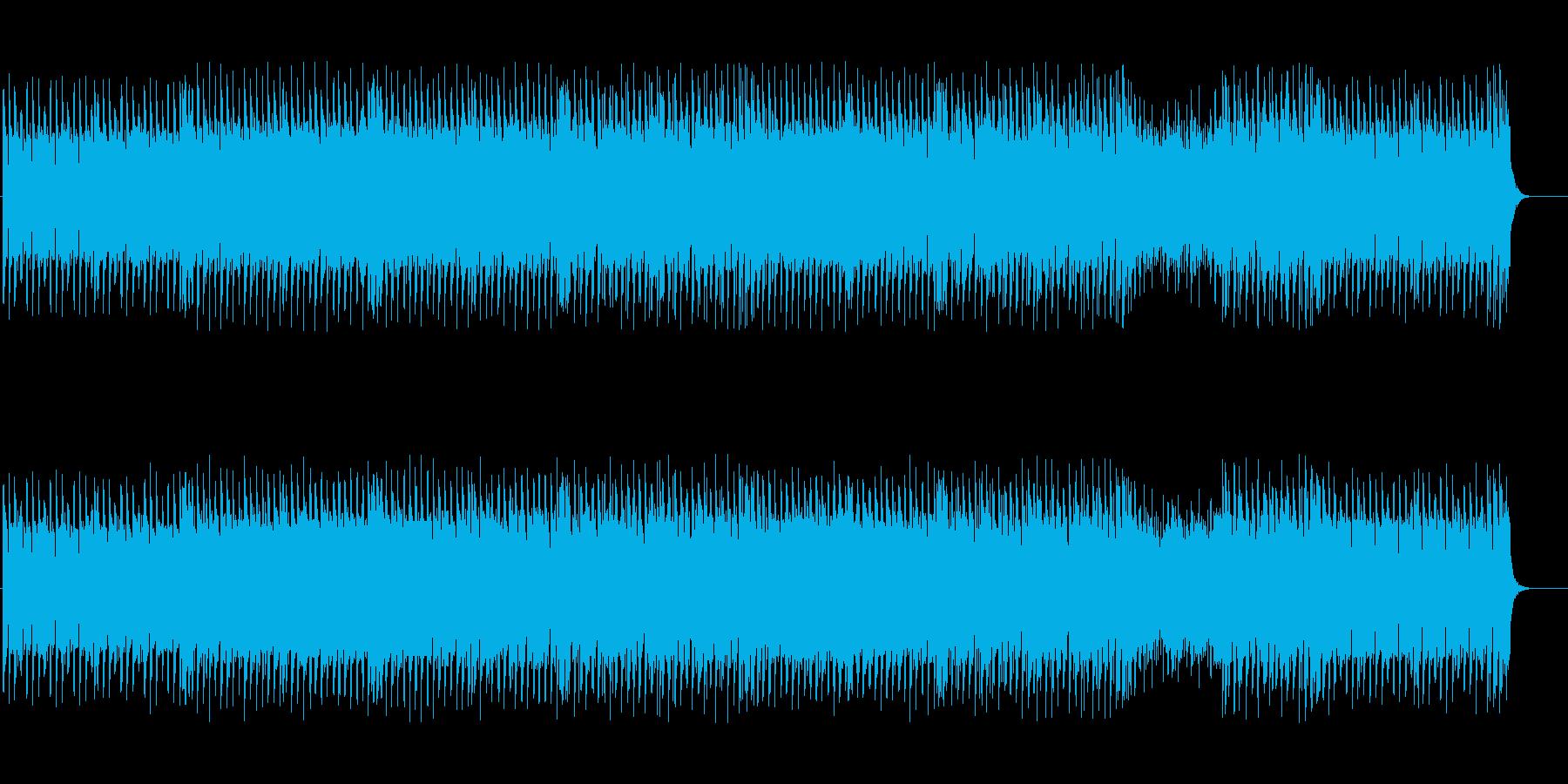 ファンタジックで可愛いテクノBGMの再生済みの波形