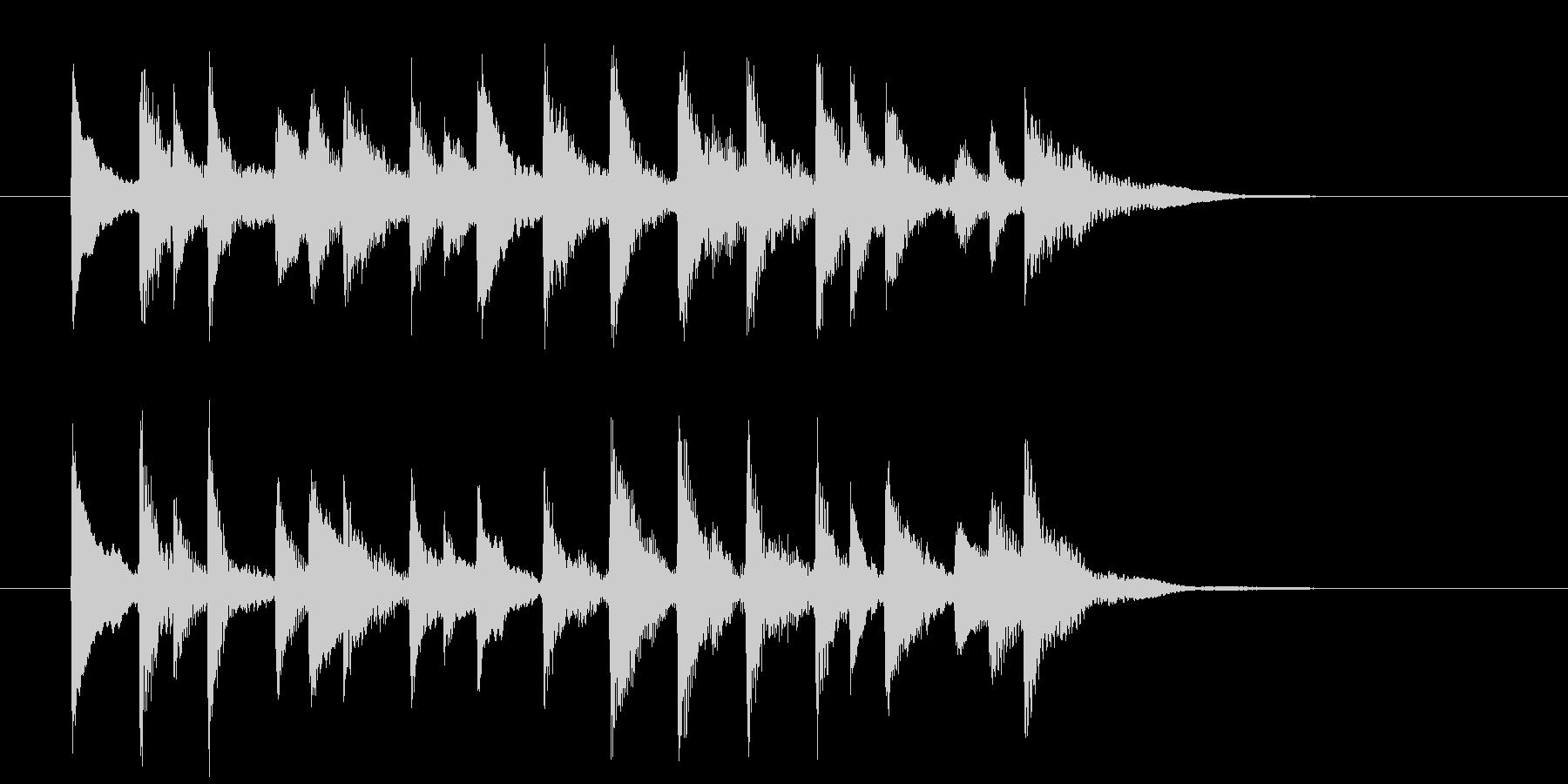 ゆったり軽やかな和風弦楽器サウンドの未再生の波形