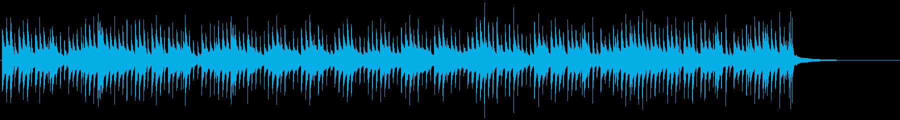 ミニピアノの可愛いジングルベルの再生済みの波形