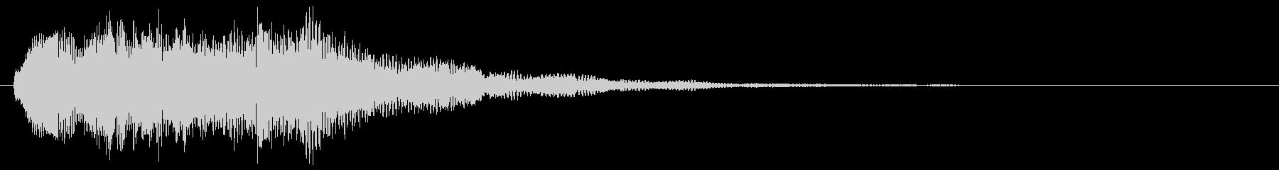 ゲームオーバー 失敗した時の音 変な音の未再生の波形