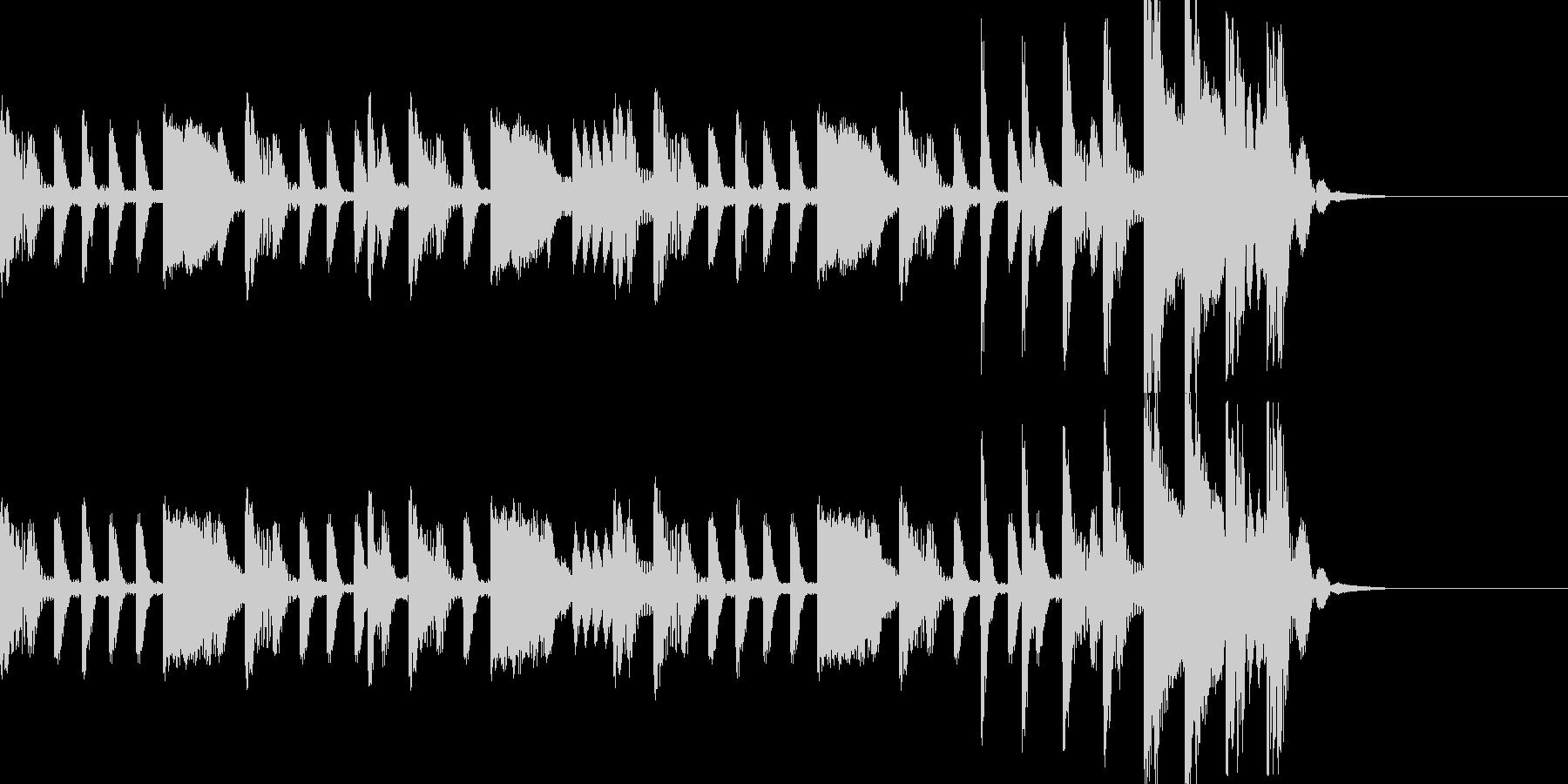 トラップなシンキングタイム音の未再生の波形