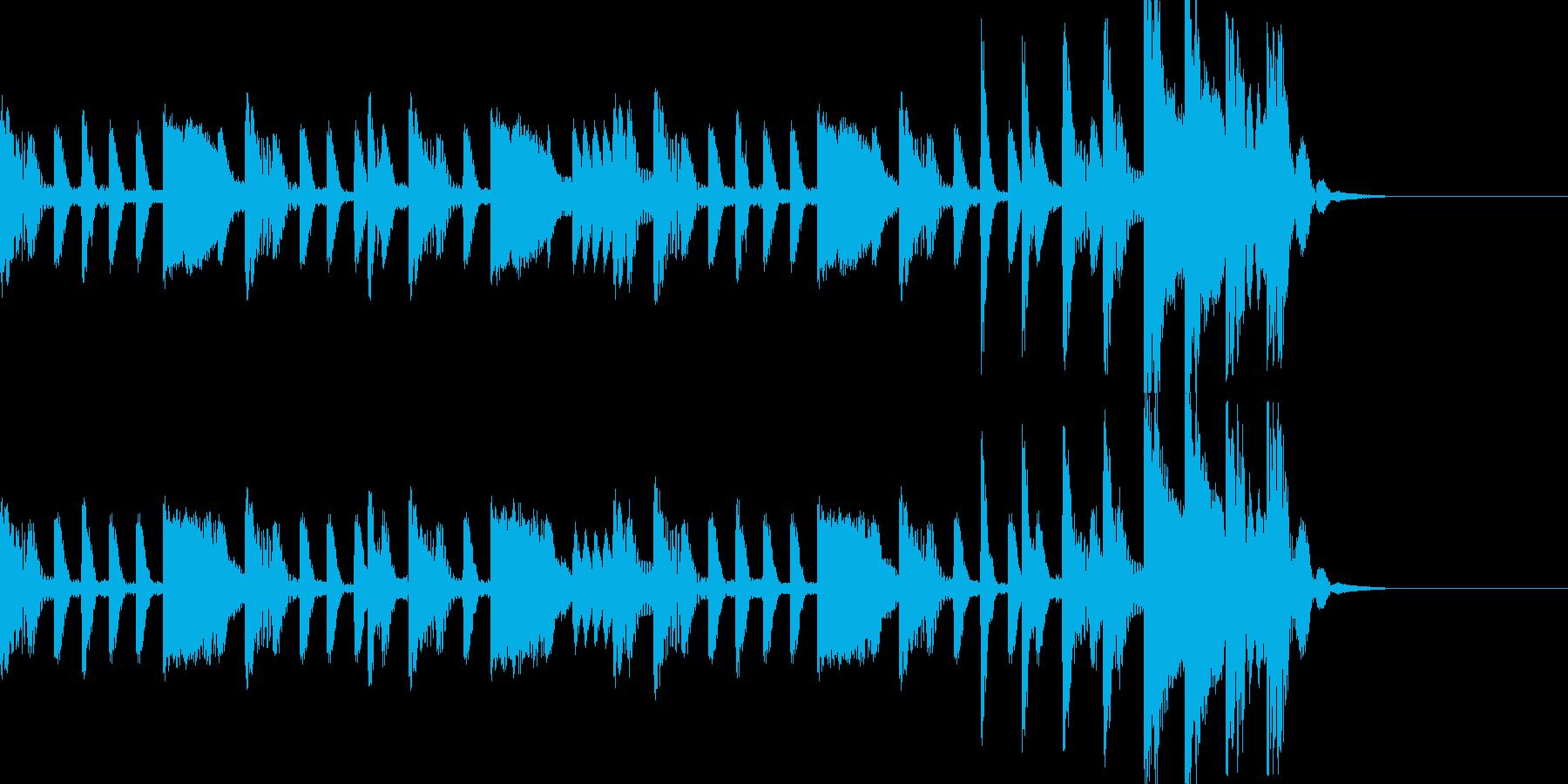トラップなシンキングタイム音の再生済みの波形