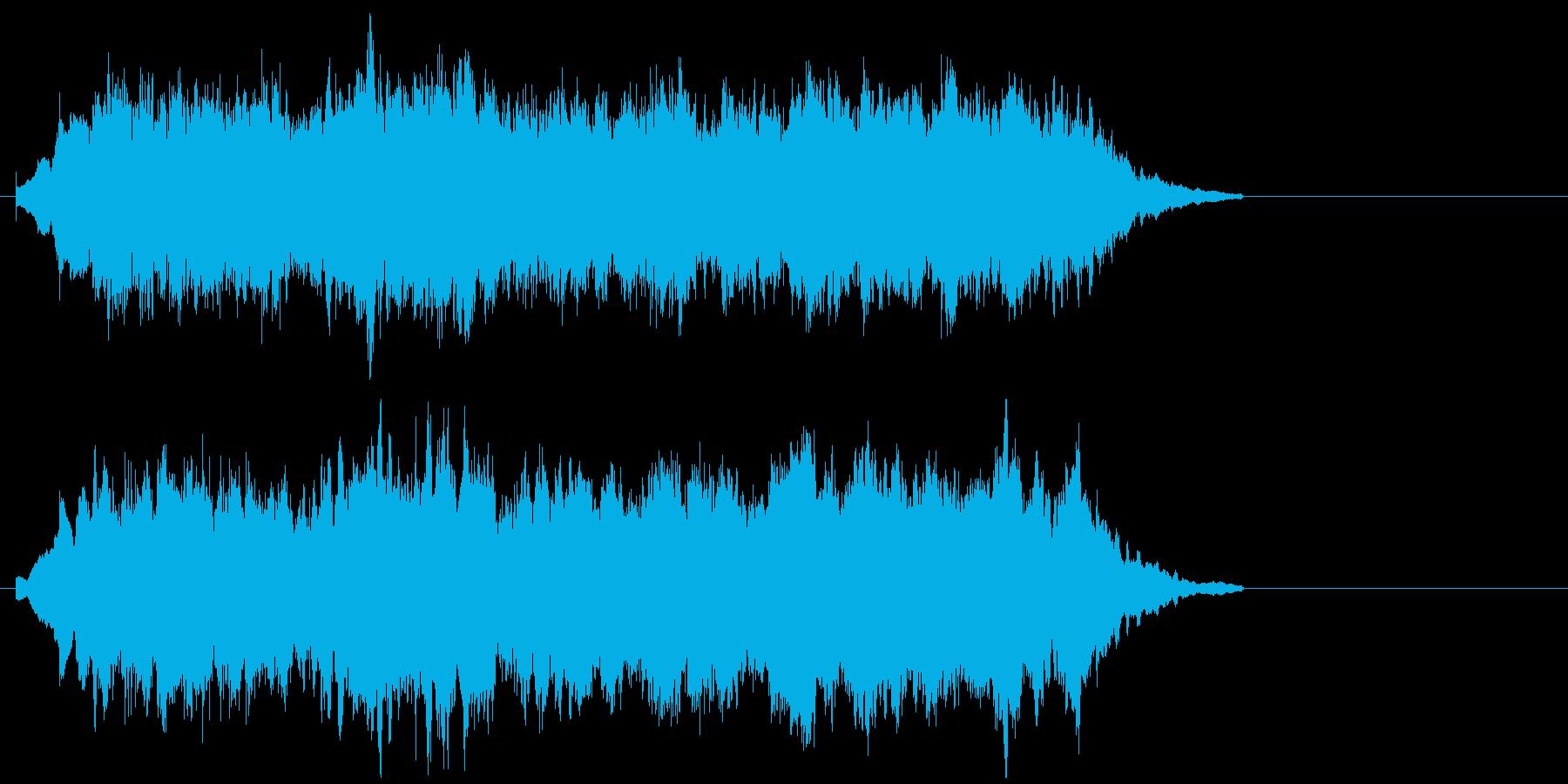 流星の輝きを思わせるシンセサイザーの再生済みの波形