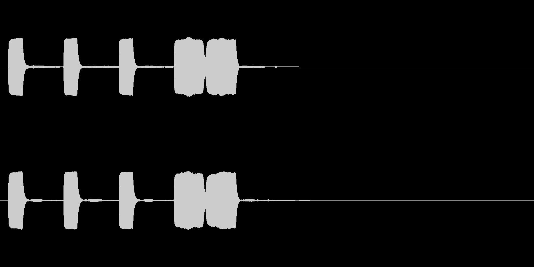 カウントダウン効果音その3の未再生の波形