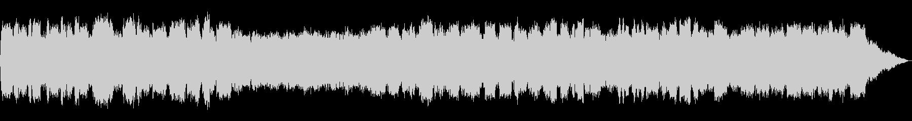 低い竹笛の音色のヒーリングミュージックの未再生の波形