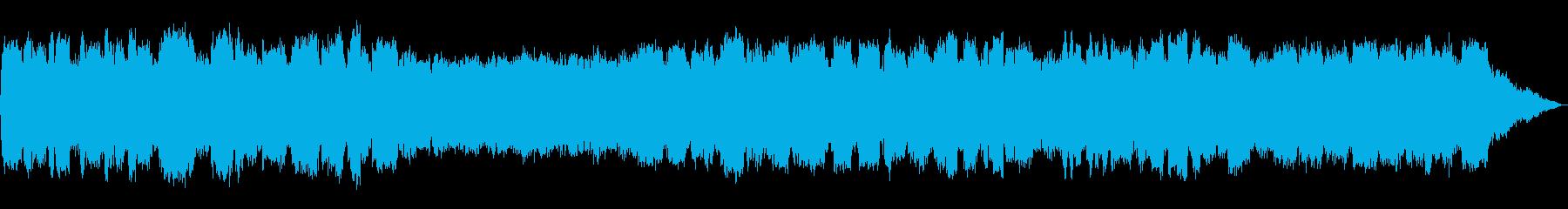 低い竹笛の音色のヒーリングミュージックの再生済みの波形