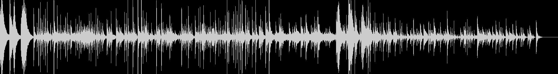 和風、スローテンポの琴BGMの未再生の波形