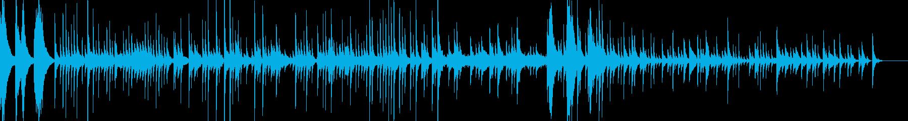 和風、スローテンポの琴BGMの再生済みの波形
