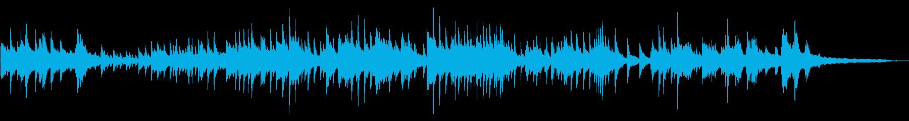 流れるような静かなピアノソロ楽曲の再生済みの波形